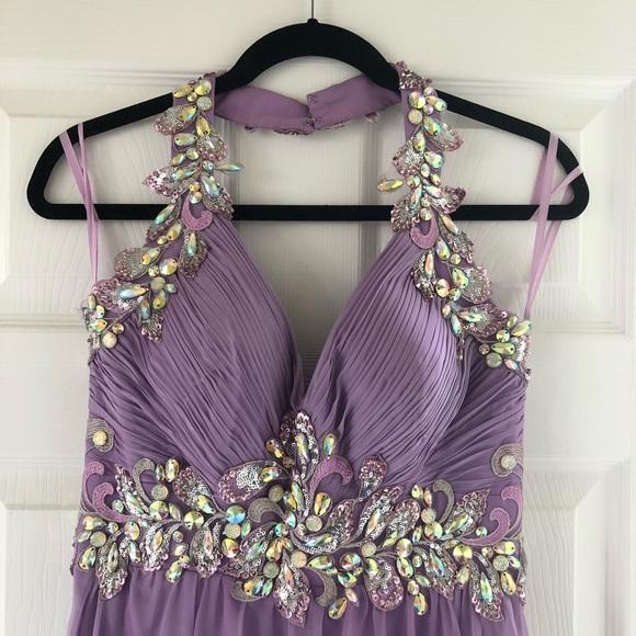 Cache Dresses & Skirts - Caché Lavender Halter Top Gown